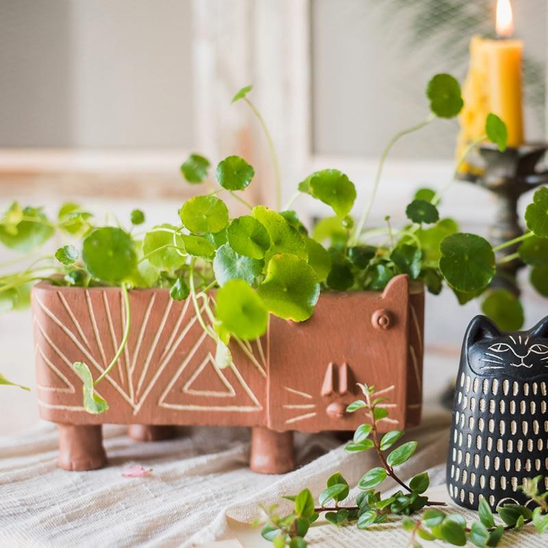 Maceta de flores de animales moderna para interiores, maceta de plantas decorativa...