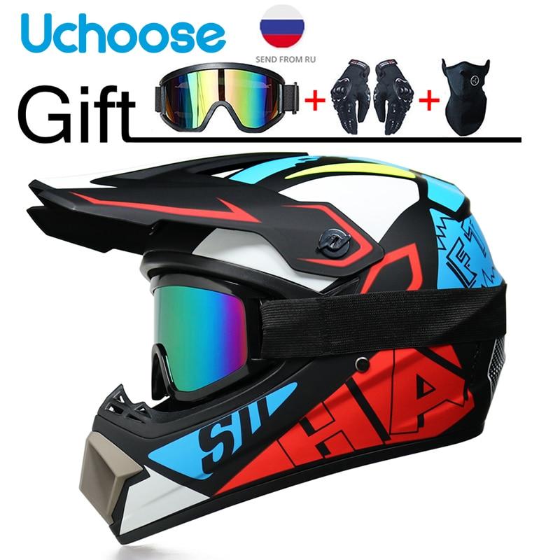 Professional Motorcycle Helmet Off-road Helmet Downhill DOT Racing Motocross Casque Moto Helme3 Free Gift Suitable For Kid