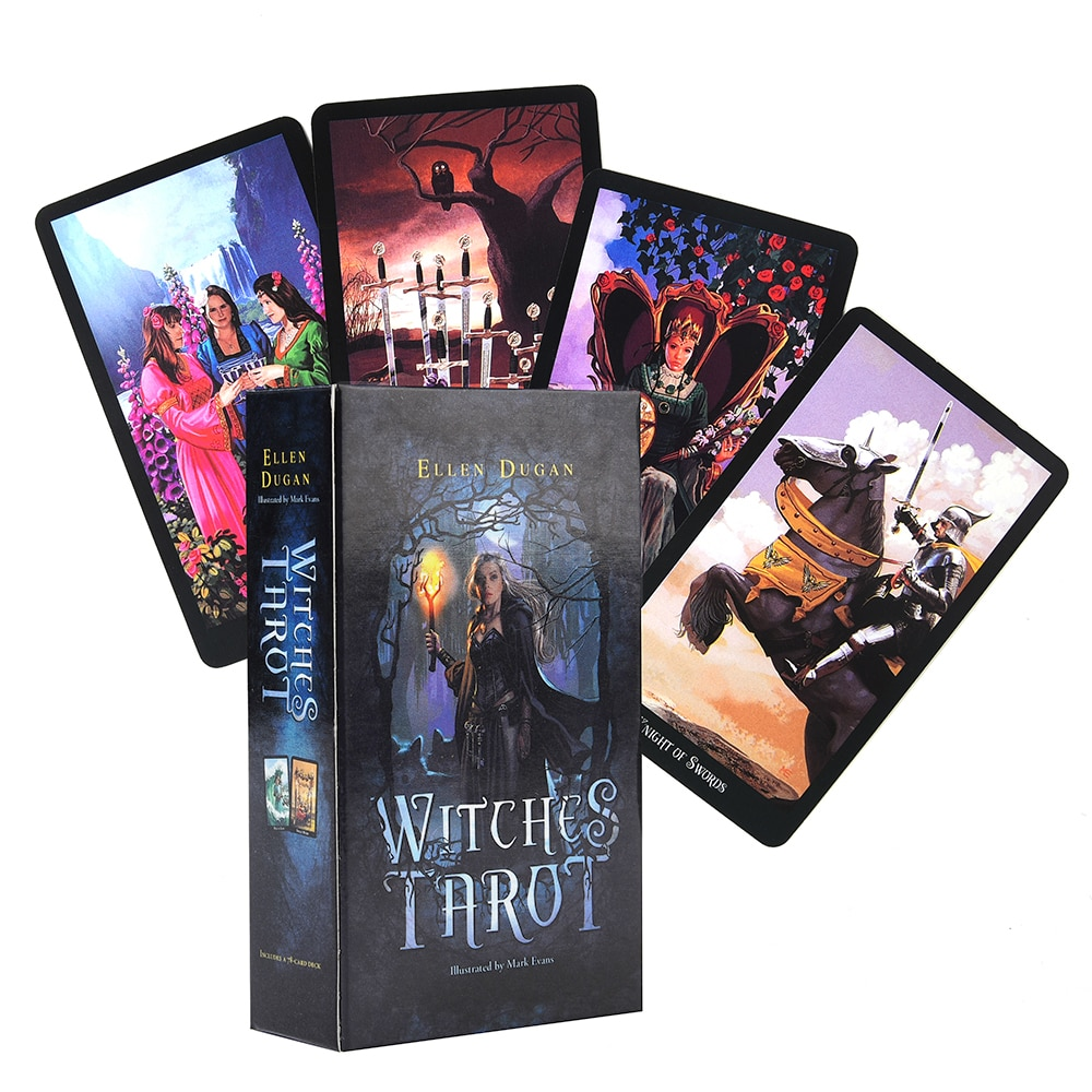 Фото - Настольная игра Witch Tarot Deck, 78 карт, индикатор судьбы будущего, карточки для прогнозирования, настольная игра, настольная игра, карточная игра,... настольная игра алкополия тур по барам