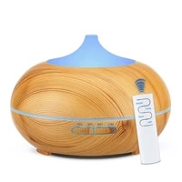 Diffuseur dhuile essentielle de bois  Grain de bois  humidificateur ultrasonique Cool a telecommande de 550ML