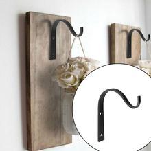 2Pieces Metal Wall Hooks J-hook Storage Hook Vintage Wall Hanger Screw Hooks For Room Cloth Towel Rack Coat Hat Holder Wall Hook