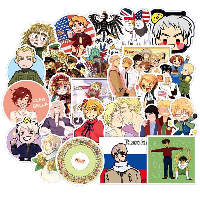 50 шт., стикеры с аниме