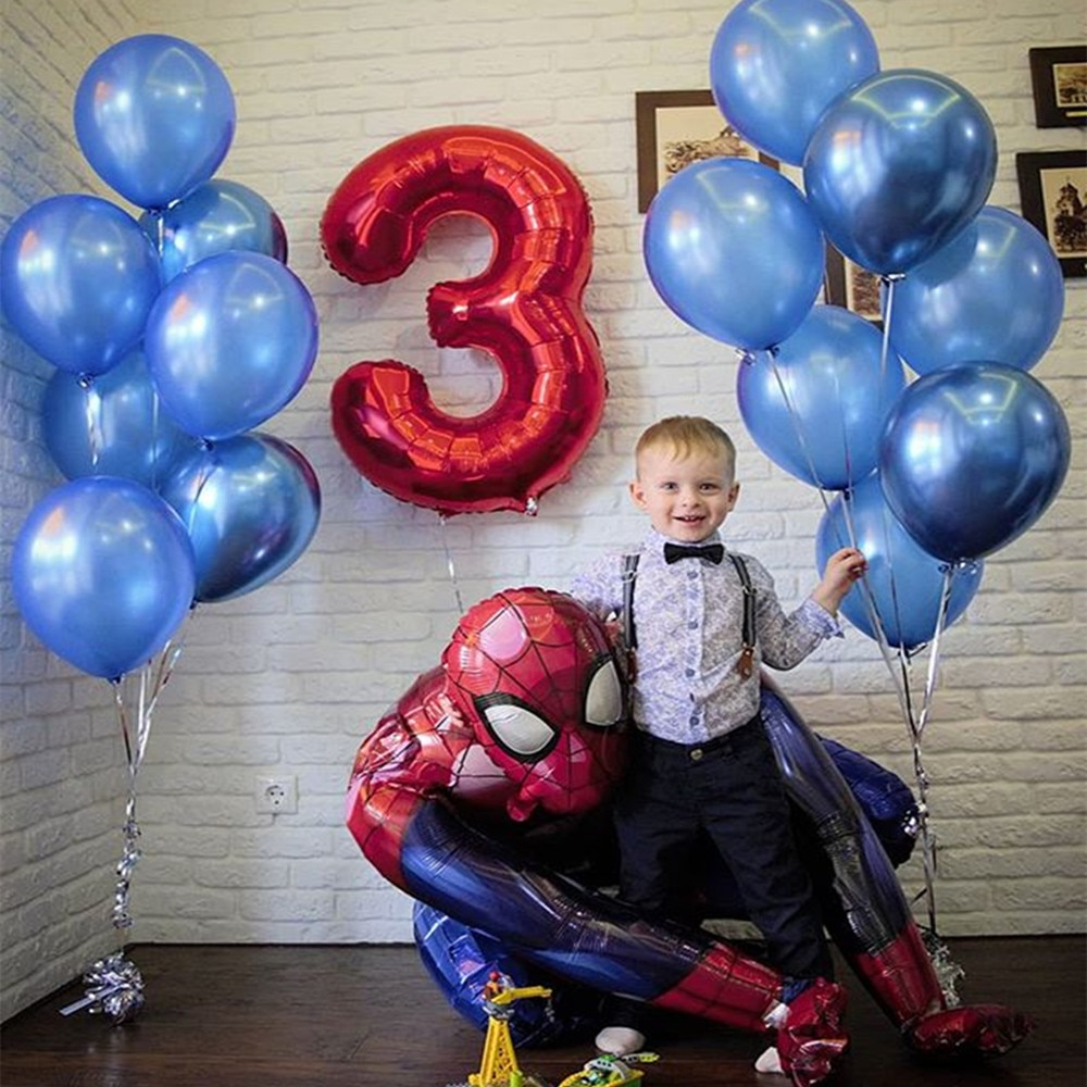 1set 3D Big Spider Supper Man Hero Mylar Foil Balloon Foil Balloons Birthday Party Decoration Supplies Children's Gifts Globos