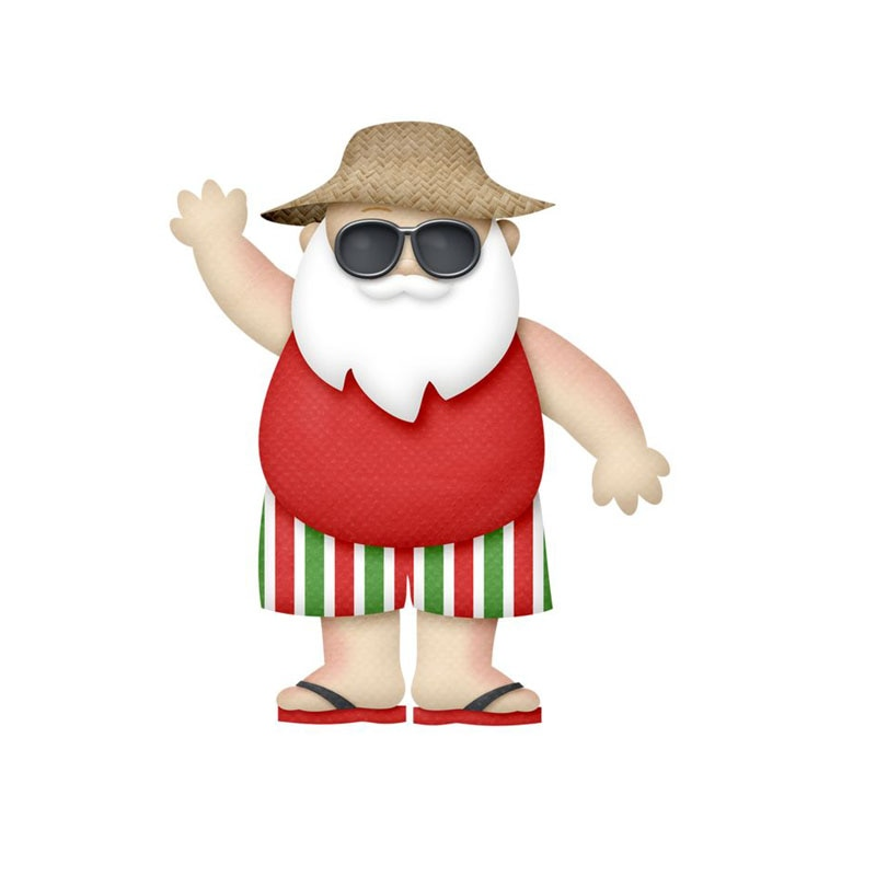 Santa Claus Summer Cutting Dies Stencil Embossing 2020  Paper Card Craft Die