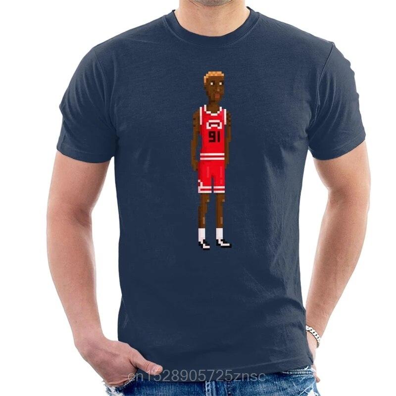 Impreso divertido 2020 camiseta Dennis Rodman de cuerpo completo Pixel hombres camiseta mujer camiseta