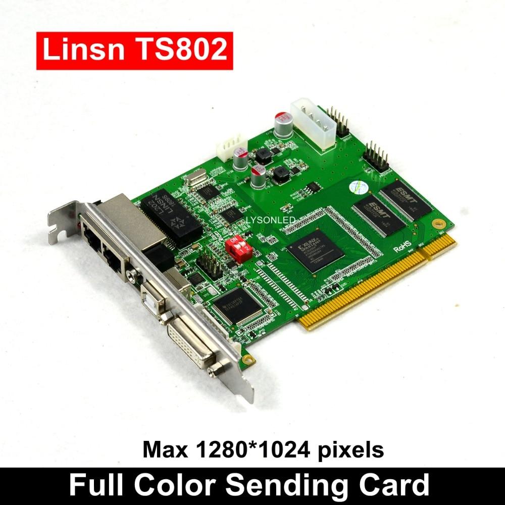 Tarjeta de envío LINSN TS802D pantalla de vídeo LED a todo Color TS802 tarjeta sincrónica SD802