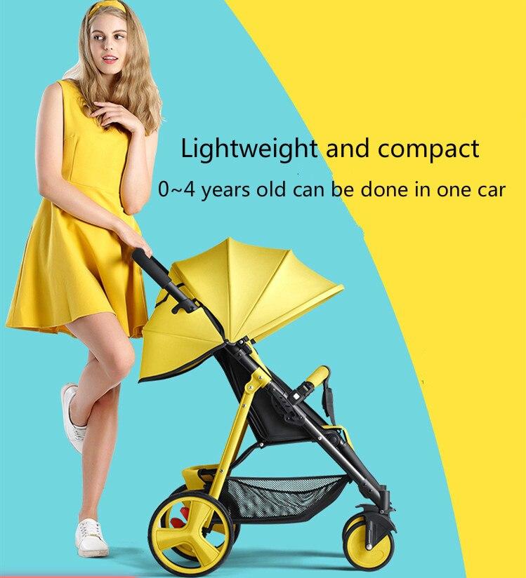 Umaubaby Teknum الأطفال عربة طفل عربة طفل سيارة يمكن الجلوس كرسي ضوء للطي المحمولة الطفل سيارة