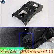 Für Toyota Limousine Corolla E210 Prestige Altis 2019 2020 Carbon Faser Stil Armlehne Box Hinten Air Vent Rahmen Trim Abdeckung