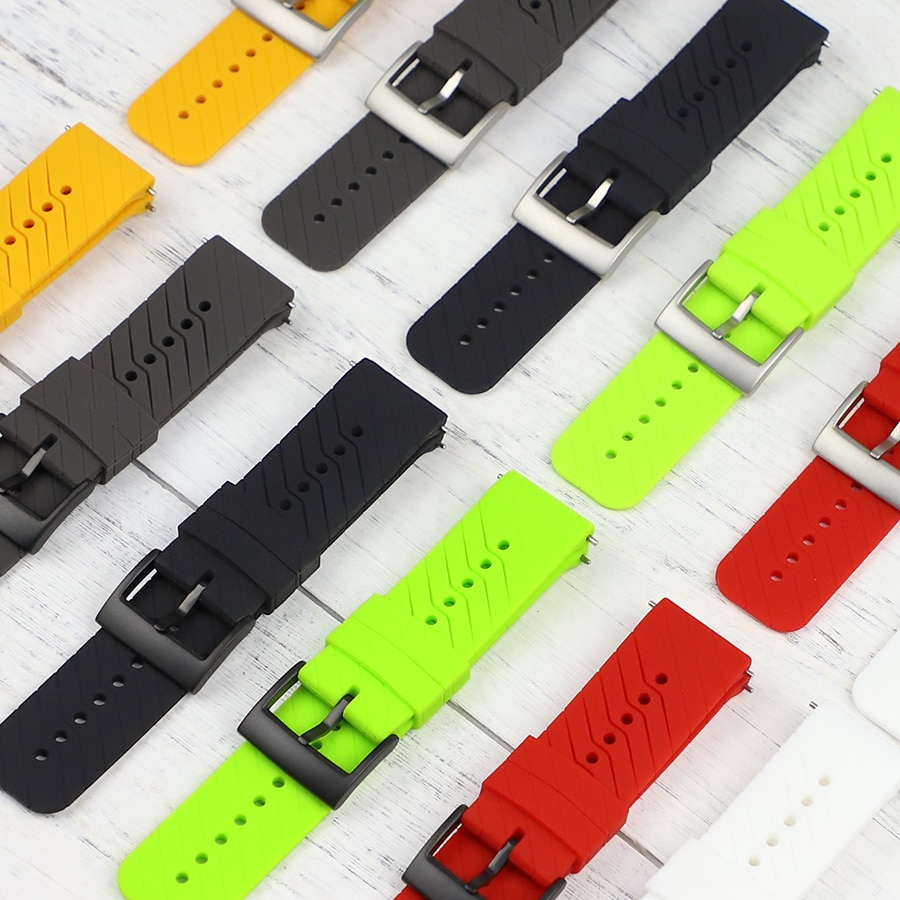 Novo 24mm pulseira de relógio de borracha para suunto 9 correia pulseira suunto 7/traverse pulseira espartana suunto 9 baro silicone