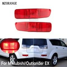 MZORANGE feu de pare-chocs arrière pour Mitsubishi/Outlander EX 2007-2012 lentille rouge feu arrière feu de frein arrière antibrouillard voiture assemblée