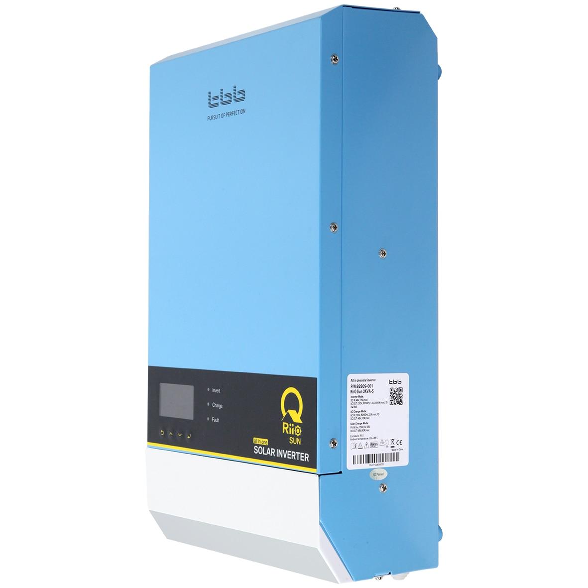 TBB المنزل مخازن نظام الطاقة الحل 3KW الهجين خارج الشبكة الشمسية العاكس