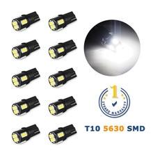 10 adet T10 Led W5W LED ampul araba iç okuma lambaları Nissan not Juke yaprak Qashqai J10 Teana J32 primera P12 Pathfinder
