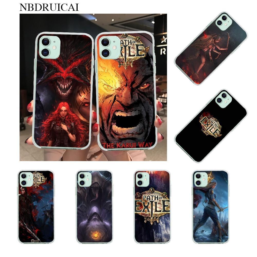 NBDRUICAI camino de Exile cubierta suave Shell teléfono caso para iPhone 11 pro XS MAX 8 7 6 6S Plus X 5S SE XR cubierta