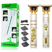 T9 USB Professional Hair Clipper Electric hair trimmer Cordless Shaver Beard Trimmer 0mm Men Barber