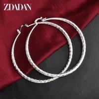 zdadan 925 silver 64mm big hoop earrings for women fashion jewelry gifts