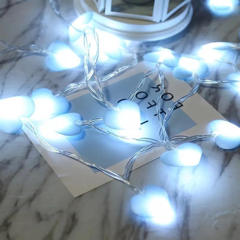 LED Heart Shape String Lights Battery Powered Fairy Light Festivals Lamp For Christmas Wedding Valentine'S Day Gift Garden