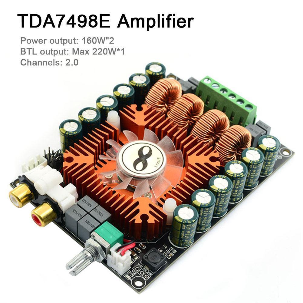 TDA7498E BTL Class-D High Power HiFi Audio 2.0 Channel Amplifier Board Module class d power amplifier module ucd400hg ultra low distortion 400w super icepower fever hifi sound