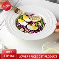 tableware creative plates dinner serving modern dishes deep straw hat plates soup piatti ceramica japanese style plate aa50cp