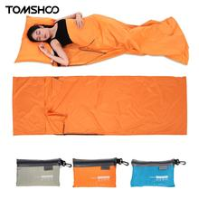 TOMSHOO diseño ultraligero saco para dormir al aire libre 70*210cm Camping senderismo bolsa Liner portátil plegable bolsas de viaje 3 colores