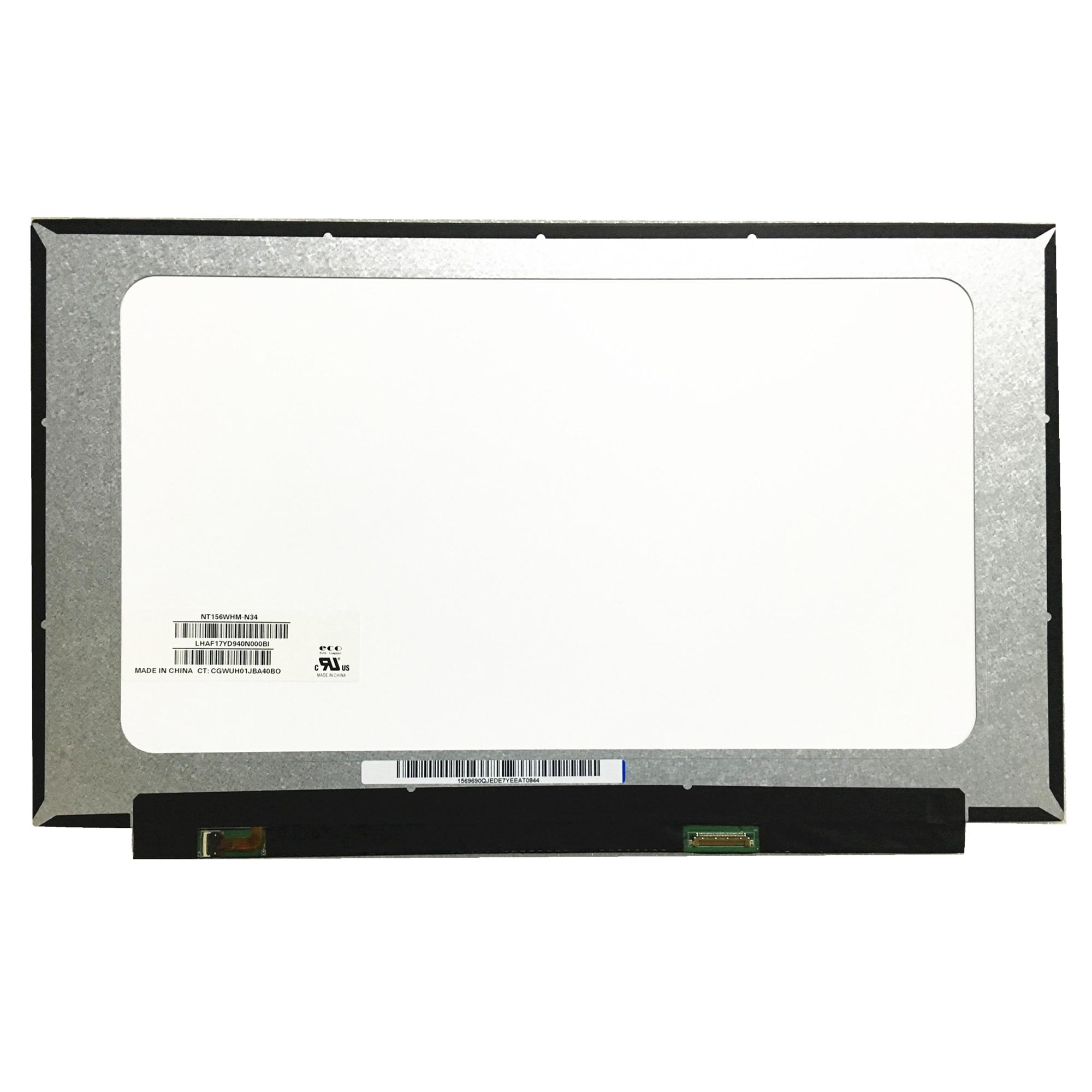 "Frete grátis NT156WHM-N34 NT156WHM N34 1366*768 EDP 30 40pins Laptop LCD Screen 15.6 ""Substituição Do Painel"