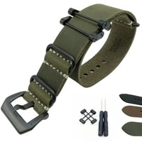 crazy horse genuine leather military watch strap band and adaptersls for suunto core for suunto traverse series and tool
