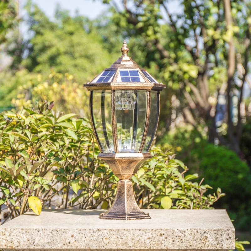 LED Solar Post Lamp Light  Outdoor Waterproof Fence Pathway Landscape Wall Lamp For Garden Decoration Street Solar Light enlarge