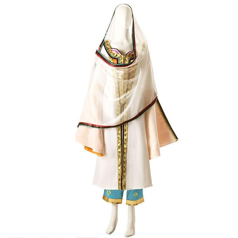 Jasmim cosplay traje feminino fantasia árabe vestido halloween carnaval uniformes feito sob encomenda