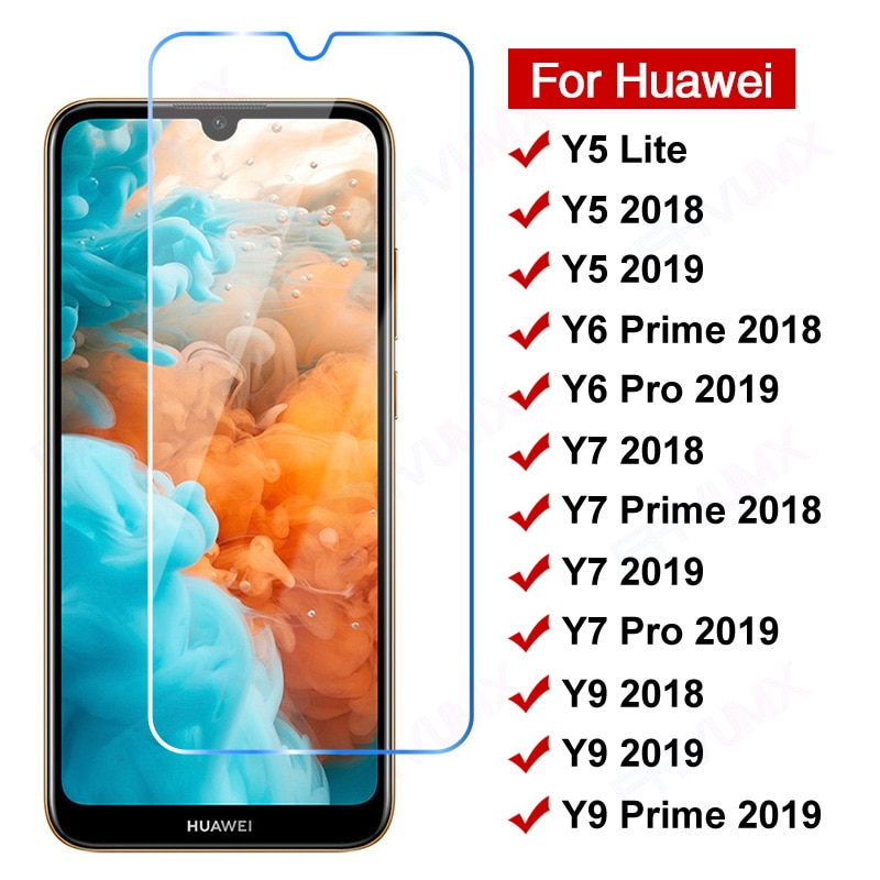 11D Anti-Burst Protective Glass For Huawei Y5 Y6 Y7 Y9 Prime 2018 Tempered Glas Y5 Lite Y 5 6 7 9 Pro 2019 Screen Protector Film
