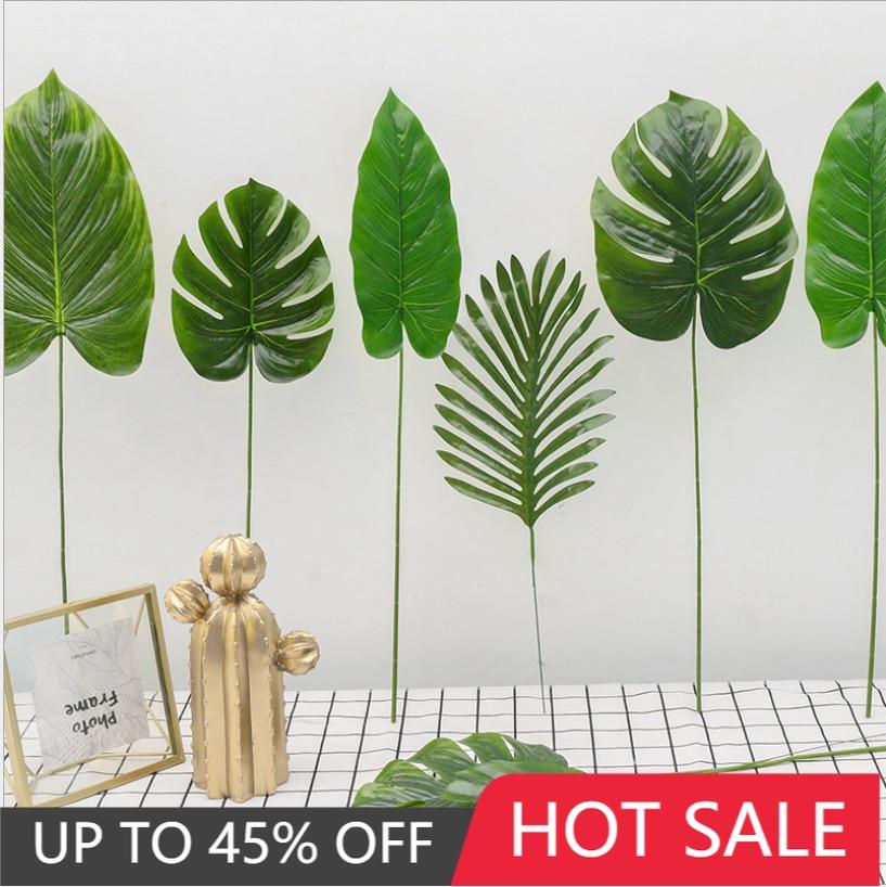 Искусственный лист черепахи, Горшечное растение, зеленый на ощупь клей, зеленый лист, один пластиковый Искусственный лист, свадебное украше...