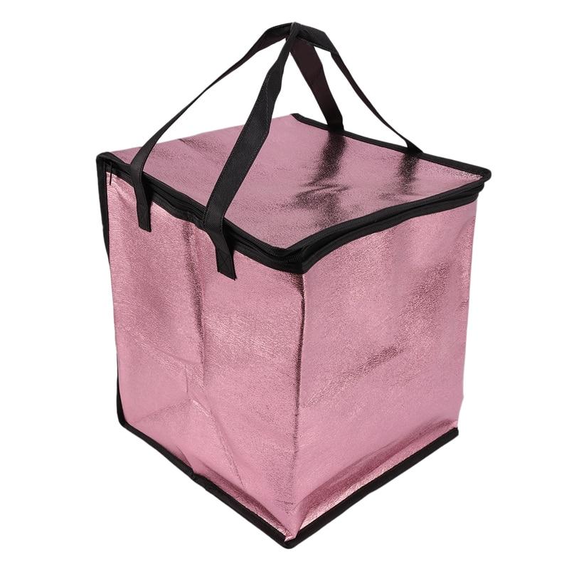Épaissir le déjeuner sac isotherme isolé pliant pique-nique Portable sac de glace alimentaire sac thermique sac de livraison de nourriture transporteur de boissons isolé B