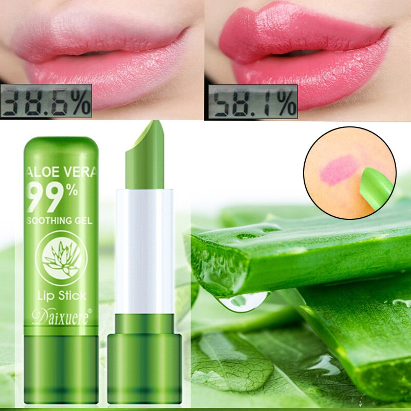 aloe vera color changing lipstick is not easy to fade lipstick moisturizing moisturizing lasting color and moisturizing lip balm недорого