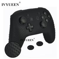 Противоскользящий силиконовый чехол IVYUEEN для Nintendo Switch NS Pro Controller, защитный чехол, аналоговые крышки для Nintendo Switch