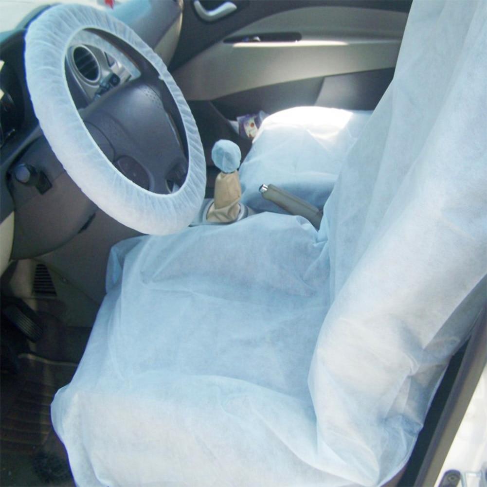 Одноразовые автомобильные мягкие чехлы на сиденья, универсальные водонепроницаемые защитные чехлы для ухода за собой, очистки, ремонта, 4 ш...