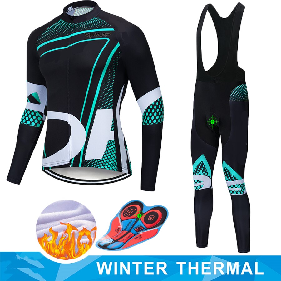 ORBEAING 2019 invierno térmico polar cálido Ciclismo Jersey conjunto de Ropa de Ciclismo térmica Mtb Ropa de montar Ropa Ciclismo
