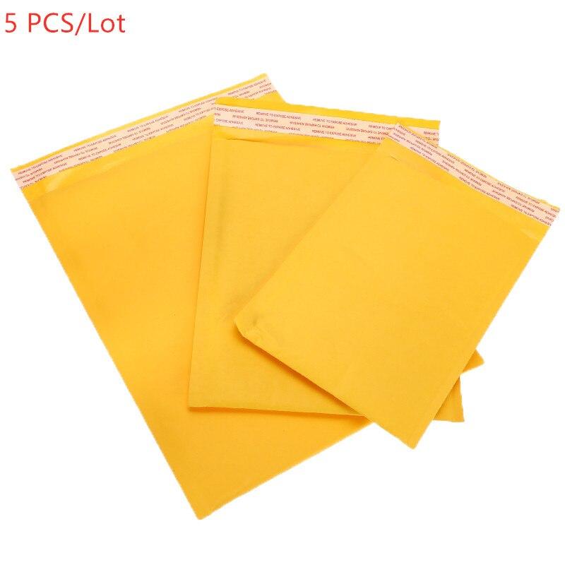 5/10/30/50 PCS/lote de papel Kraft sobres bolsas de sobres de burbujas envío sobre con burbuja bolsa de correo sobres acolchados