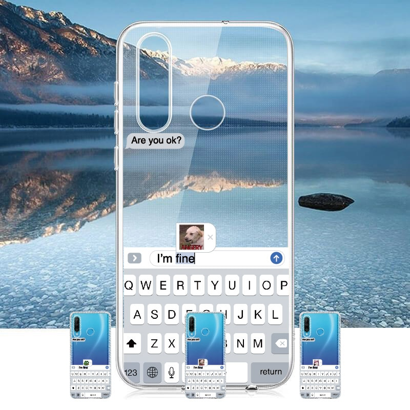 Funny Meme Are You Ok I Am Fine For Huawei Honor Mate 10 20 Nova P20 P30 P40 P Smart Soft Crystal Slim Protective Clear Case