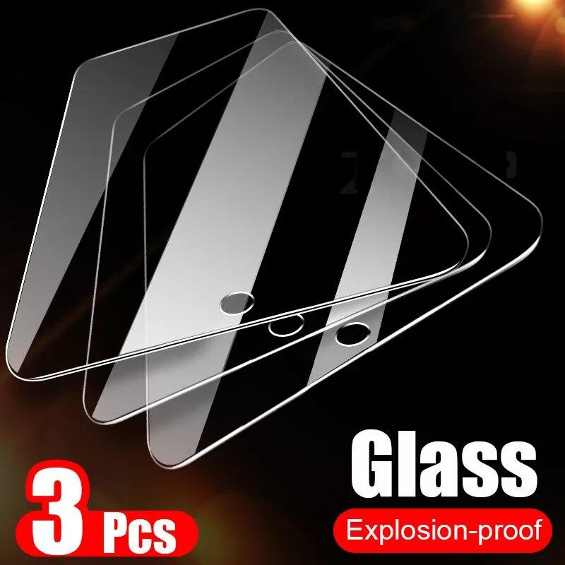 Cristal templado para iPhone 11 pro, 3 unidades, para iPhone 8 7 plus X XR XS Max 6 Plus, película protectora de pantalla afone 11 pro max Glass i 8