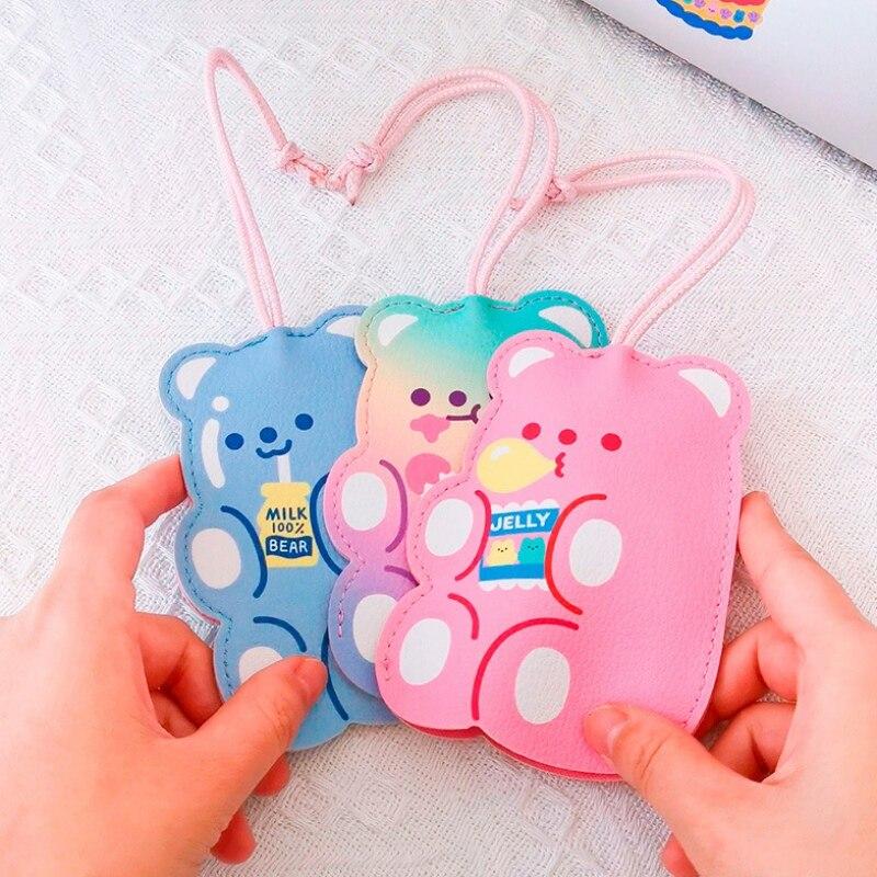 Bentoy Milkjoy PU oso llavero bolsa niños niñas llavero Corea Japón Kawaii llavero bolsa monedero