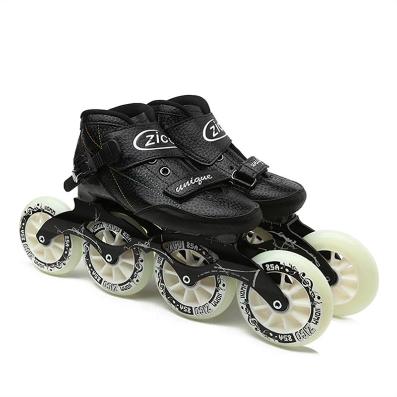 Уличные скоростные гоночные коньки с длинным уличным шоссе для асфальтовой дороги, встроенные скоростные коньки, обувь из углеродного воло...