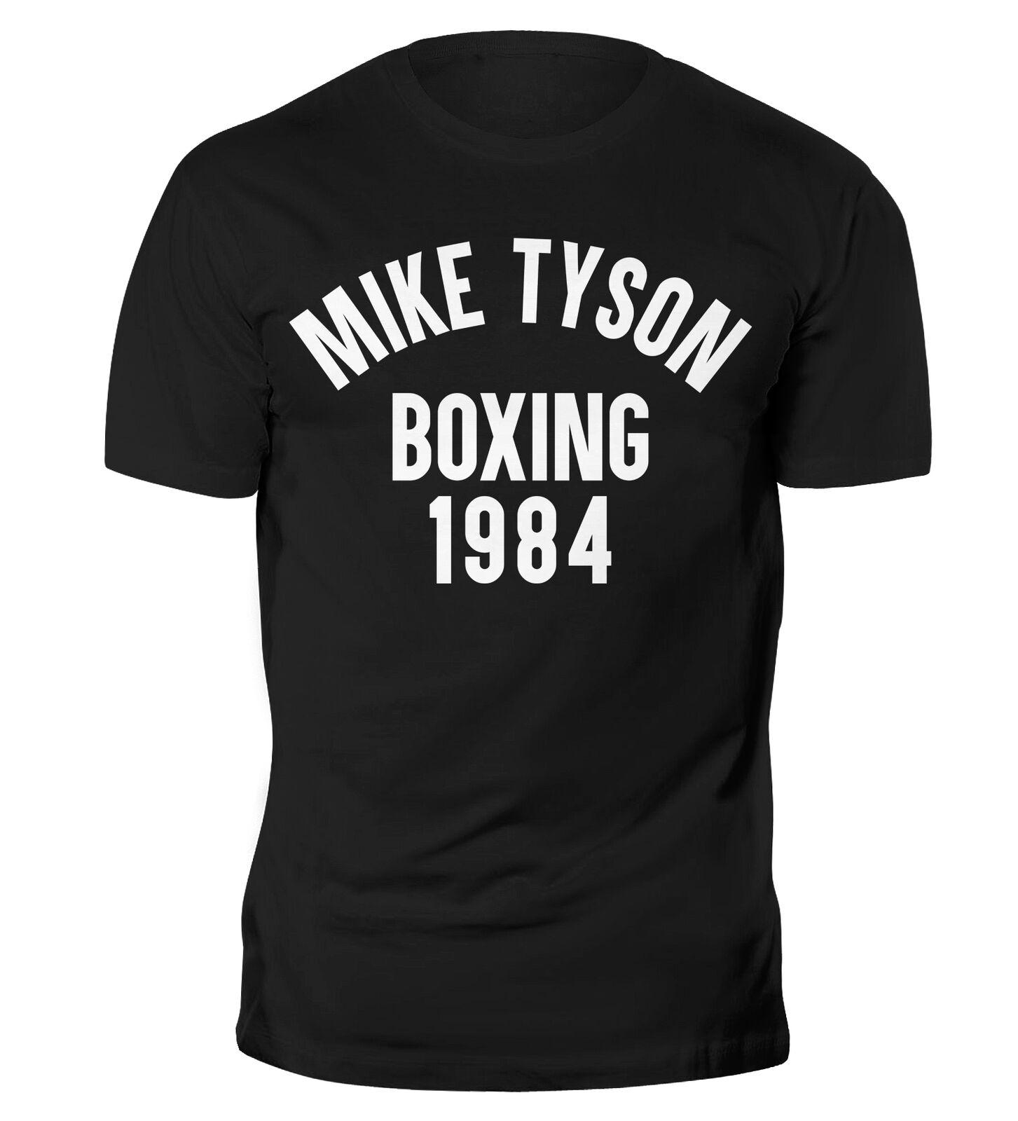 Camiseta de entrenamiento de gimnasia Mike Tyson Boxing 1984, camiseta de manga corta de algodón con cuello redondo para hombre, nueva S-3XL