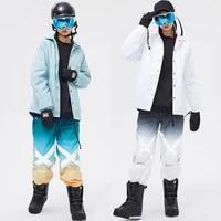 ski suit men women winter outdoor warm breathable windproof waterproof reflective ski jacket ski pants skiing snowboarding suit
