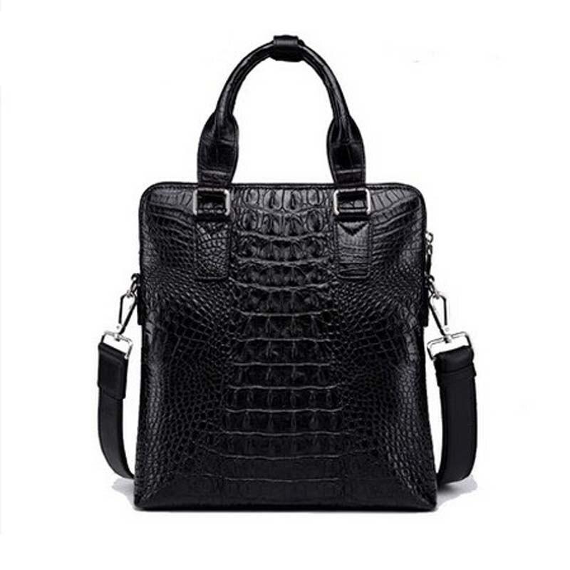 MBMN Thai crocodile skin Men handbag crocodile leather business men European and European single shoulder bag men handbag