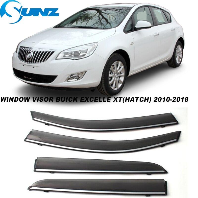 Side Window Visor For Buick Excelle XT Hatchback 2010 2011 2012 2013 2014 2015 2016 2017 2018  Sun Rain Deflector SUNZ