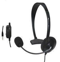 Casque filaire casque professionnel 1 oreille Mini jeu écouteur Microphone pour Sony PlayStation 4 PS4 jeu # LR2