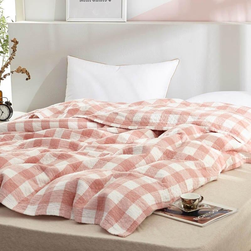 منقوشة بطانية للنوم القطن ا البطاطين بطانية على أريكة الصيف الربيع رمي بطانية للطفل الكبار السرير غطاء مانتا المفرش
