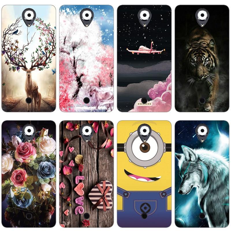 Para wiko u sentir 5.0 polegada caso de luxo dos desenhos animados tpu caso para wiko ufeel macio silicone telefone fundas capa traseira protetora sikn