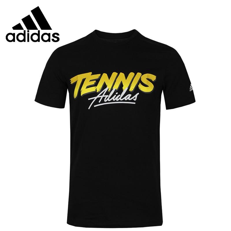 ¡Novedad! Camiseta deportiva de manga corta para hombre con gráfico de letras Adidas Original