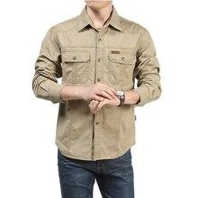Tactical Shirt Men Clothes 2020 Spring Autumn Military Dress Shirt Mens Cotton Long Sleeve Army Casual Plus Size 4XL 5XL 6XL