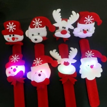 Christmas decorations led band lights snap ring holiday party supplies luminous Bracelet