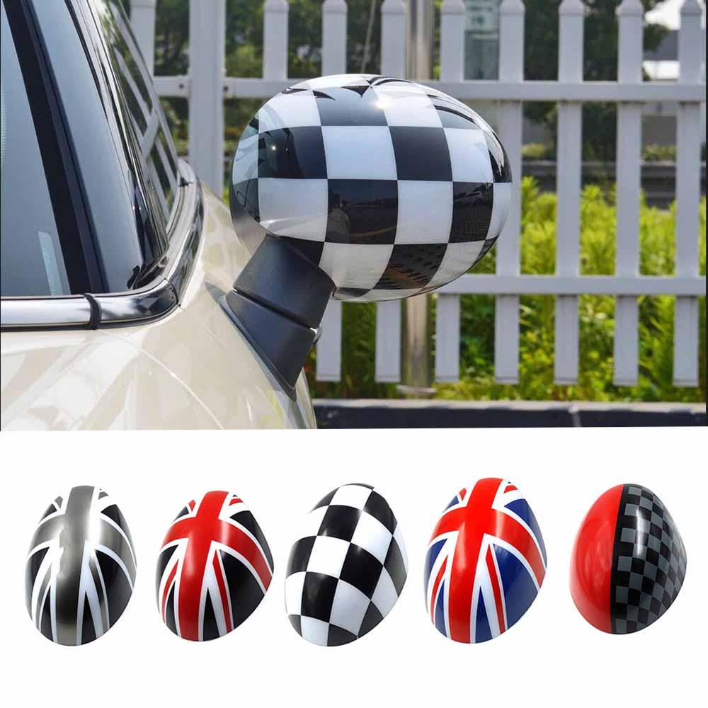 Cubierta de espejo retrovisor de puerta pegatina de estilo de coche para Mini CooperS Clubman counterman Paceman R55 R56 R57 R58 R59 r60 R61 F55 F56